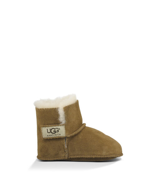 UGG Toddlers' Erin Boot Sheepskin and Suede in Chestnut, Size Medium (12-18 Months)