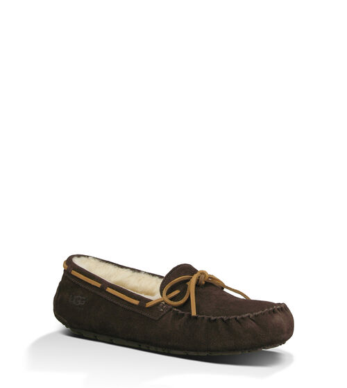 UGG Men's Olsen Sheepskin Slipper Moccasins in Espresso, Size 12