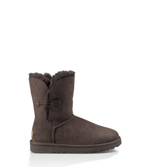UGG Womens Bailey Button II Boot Wool Blend In Chocolate, Size 11