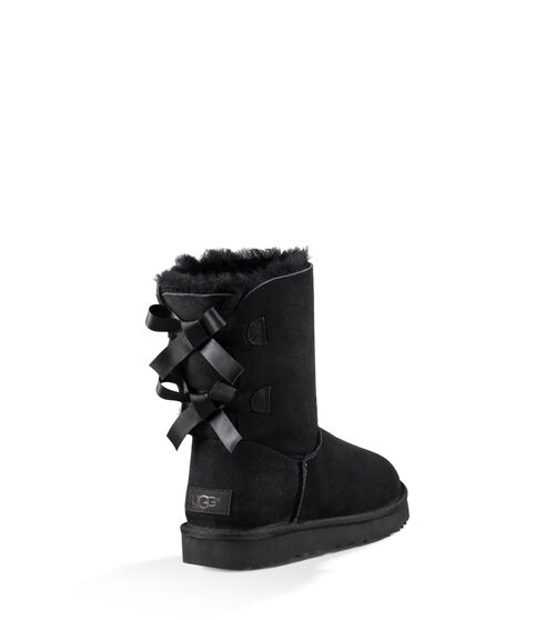 UGG Womens Bailey Bow II Boot Wool Blend In Black, Size 11