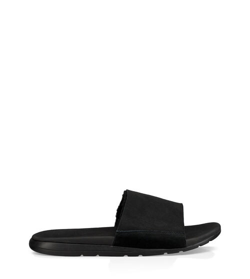 UGG Mens Xavier Sheepskin Slide In Black, Size 8