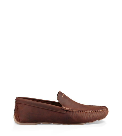 UGG Men's Henrick Loafer Suede In Brown, Size 7.5 This old-school shoe was made for driving, and we've updated it with a more California vibe. Rich full-grain leather combines with a vintage cut and rubber sole that's made for road trips up the coast. The Henrick slips on (sockless!) for almost any occasion - with a suit for a wedding or denim for the weekend. This product was made in a factory that supports women in our supply chain with the help of HERproject, a collaborative initiative that creates partnerships with brands like ours to empower and educate women in the workplace. UGG Men's Henrick Loafer Suede In Brown, Size 7.5